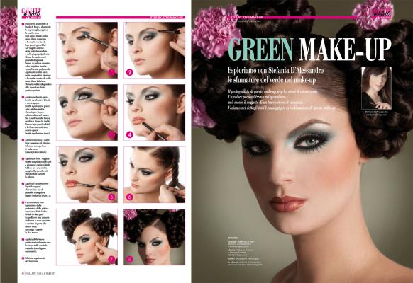 green make-up | concept, make-up & hair stefania d'alessandro | photos Autuori & carletti - Photografia | gallery nails & make-up dic 2012